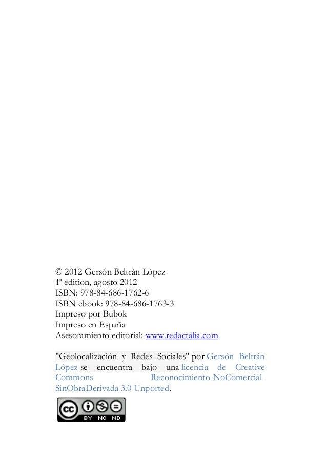 © 2012 Gers—n Beltr‡n L—pez1» edition, agosto 2012ISBN: 978-84-686-1762-6ISBN ebook: 978-84-686-1763-3Impreso por BubokImp...
