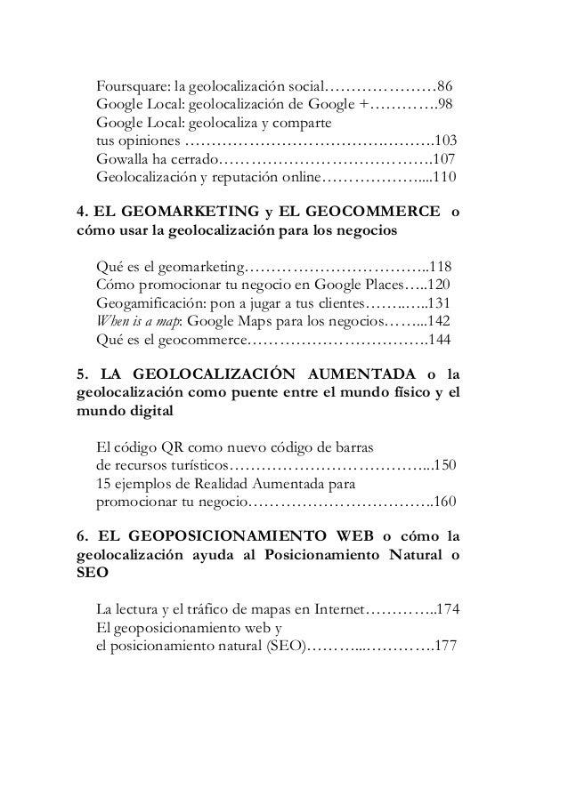 7. EL GEOPOSICIONAMIENTO EMOCIONAL o laimportancia del factor humano en la geolocalizaci—n  LagoratripÉÉÉÉÉÉÉÉÉÉÉÉÉÉÉÉ184 ...