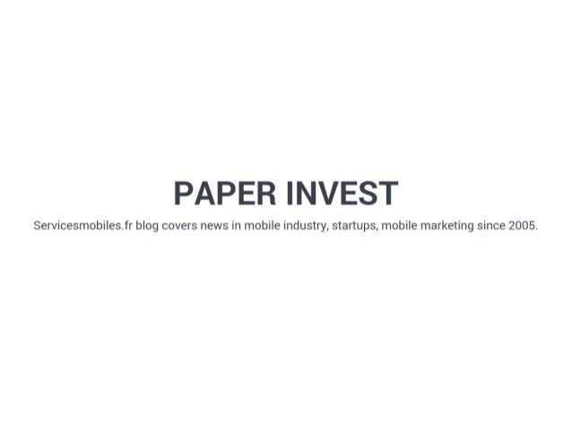 Extract Paper Invest Slush 2016