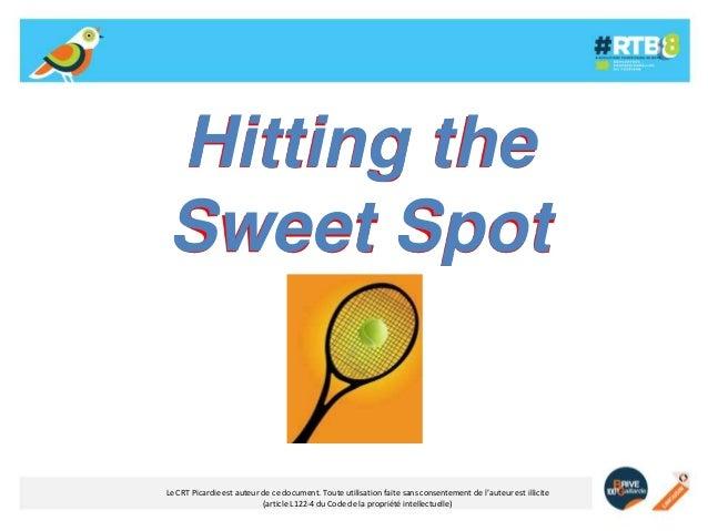 Hitting the Sweet Spot  Le CRT Picardie est auteur de ce document. Toute utilisation faite sans consentement de l'auteur e...