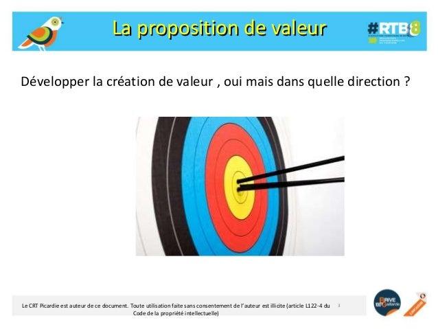 La proposition de valeur Développer la création de valeur , oui mais dans quelle direction ?  Le CRT Picardie est auteur d...