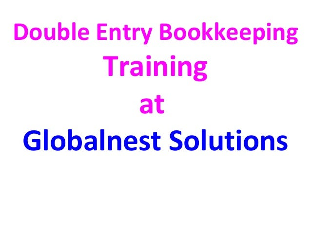 basic double entry bookkeeping pdf