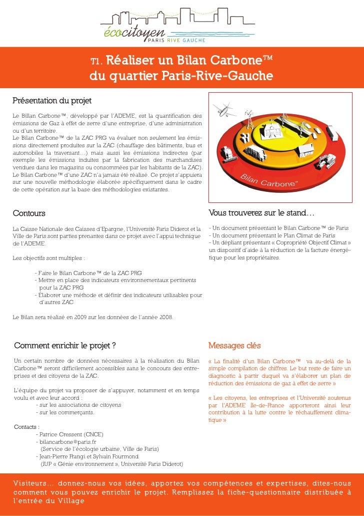 Réaliser un Bilan CarboneTM                                  T1.                                  du quartier Paris-Rive-G...