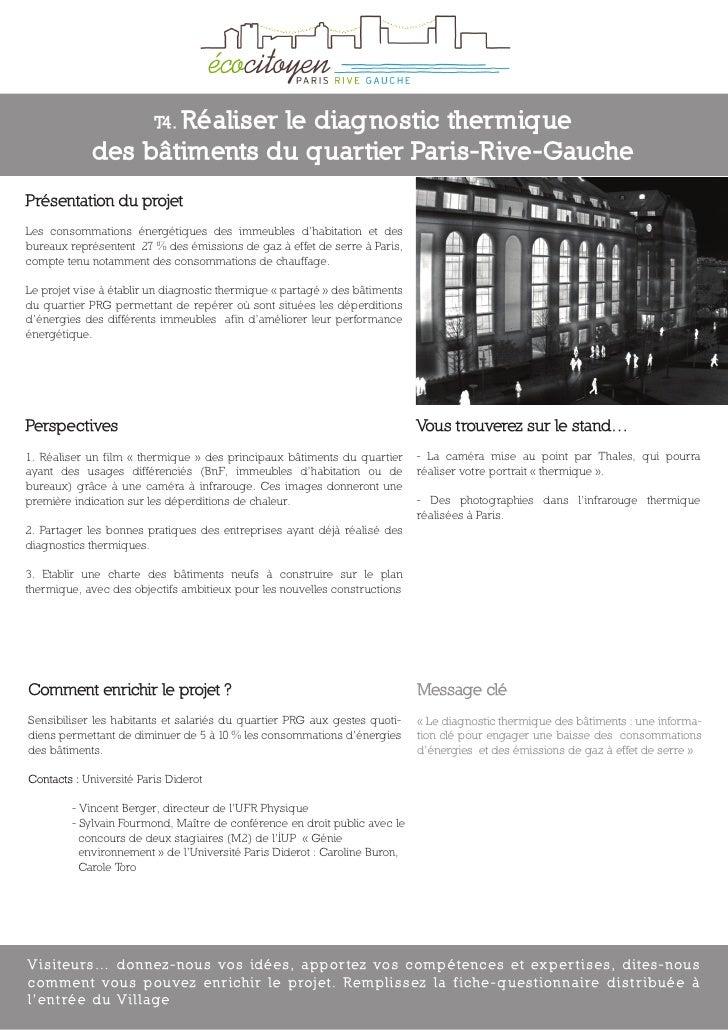 T4. Réaliser                             le diagnostic thermique              des bâtiments du quartier Paris-Rive-Gauche ...