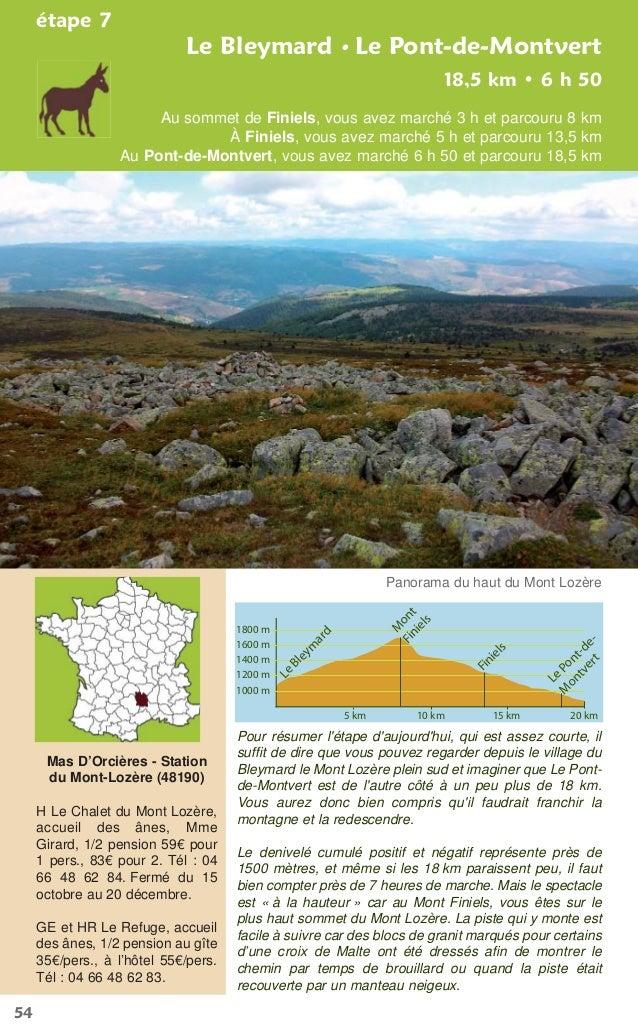 54Le Bleymard • Le Pont-de-Montvertétape 7Au sommet de Finiels, vous avez marché 3 h et parcouru 8 kmÀ Finiels, vous avez ...