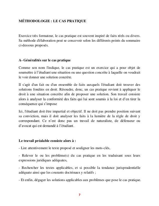 Methodologie de dissertation juridique