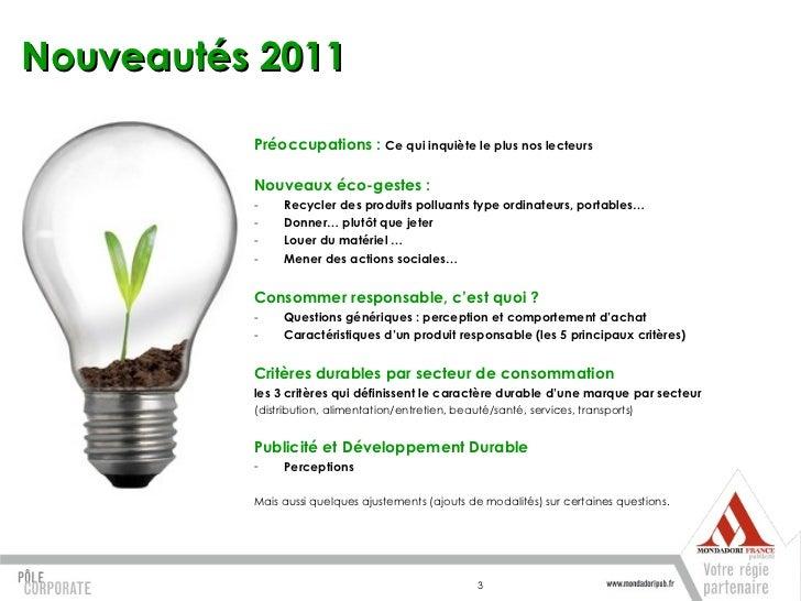 Extraits baromètre dd mondadori 2011 Slide 3