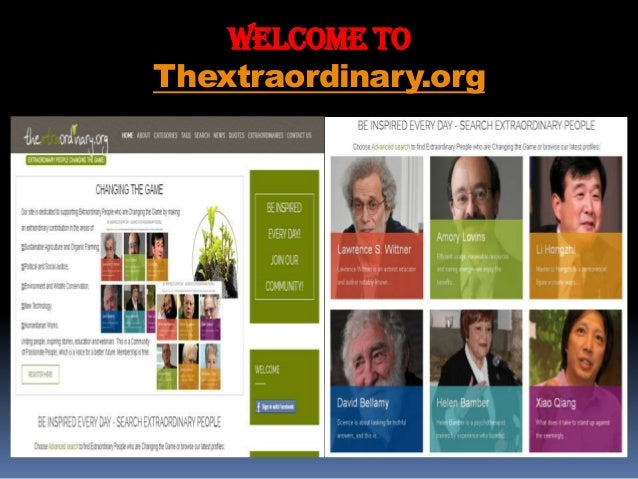 WELCOME To Thextraordinary.org