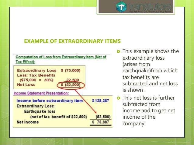 Extraordinary Items Accounting