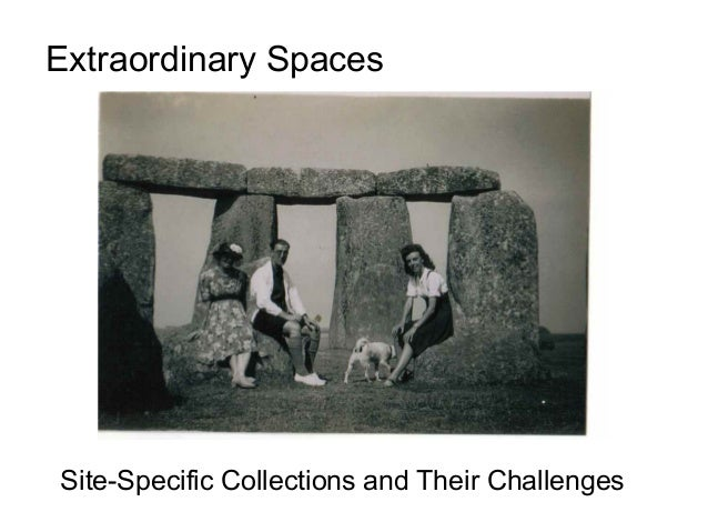Extraordinary Spaces  Site-Specific Collections and Their Challenges
