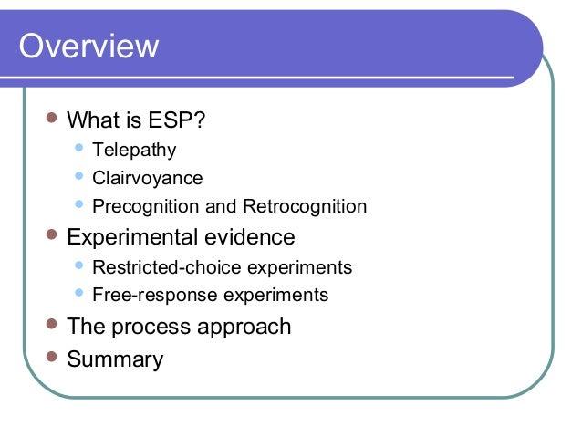 Extrasensory Perception (Esp)