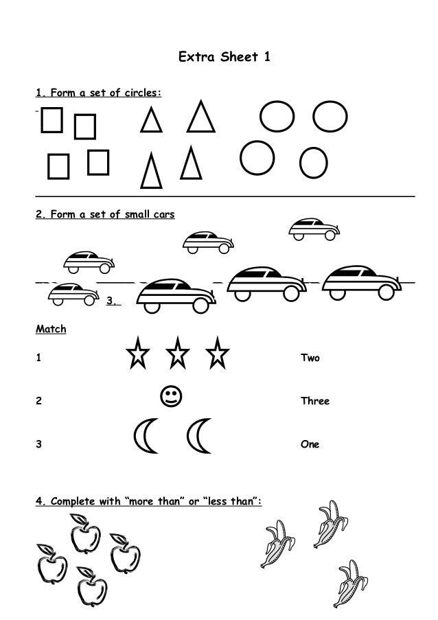 Math Worksheet Kg 1 To Grade 1 - Lessons - Tes Teach