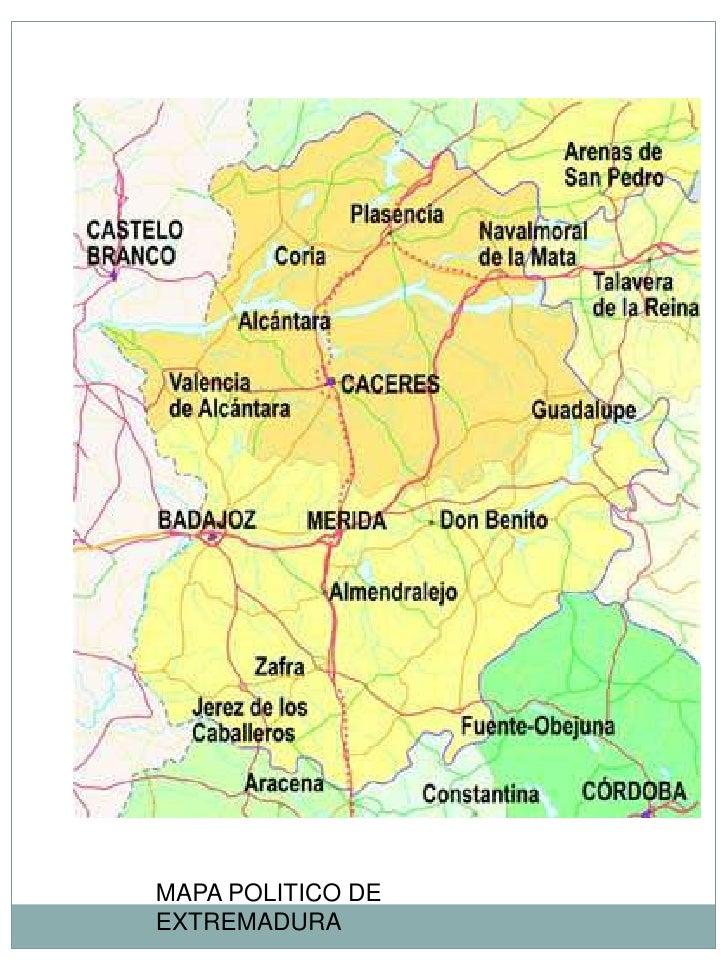 Worksheet. Mapa Politico Extremadura  My blog