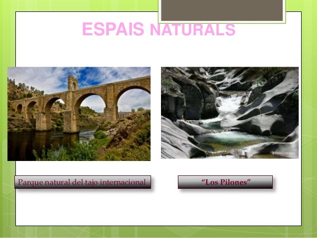 "ESPAIS NATURALS Parque natural del tajo internacional ""Los Pilones"""