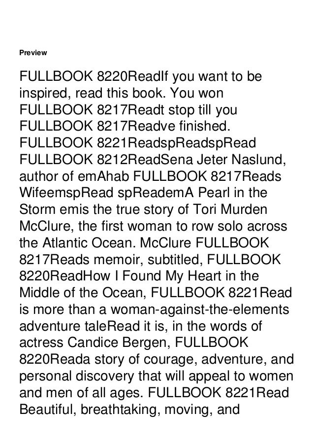 inspiring, emA Pearl in the Storm emwill appeal to the millions of readers who made emEat, Pray, Love ema resounding succe...