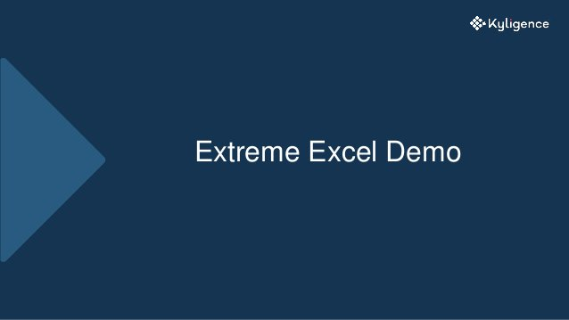 Extreme Excel Demo