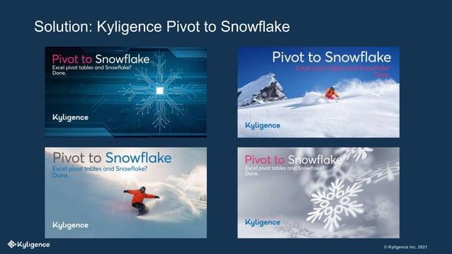 © Kyligence Inc. 2021 Solution: Kyligence Pivot to Snowflake