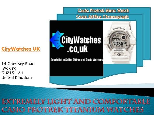 Casio Protrek Mens Watch 14 Chertsey Road Woking GU215 AH United Kingdom CityWatches UK