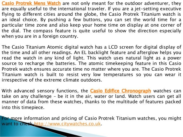 Extremely light and comfortable casio protrek titanium watches Slide 3
