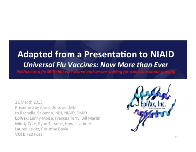 Extremely rapid h7 n9 vaccine design by epivax Slide 2