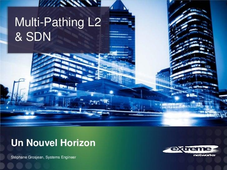 Multi-Pathing L2 & SDNUn Nouvel HorizonStéphane Grosjean, Systems Engineer                                      © 2011 Ext...