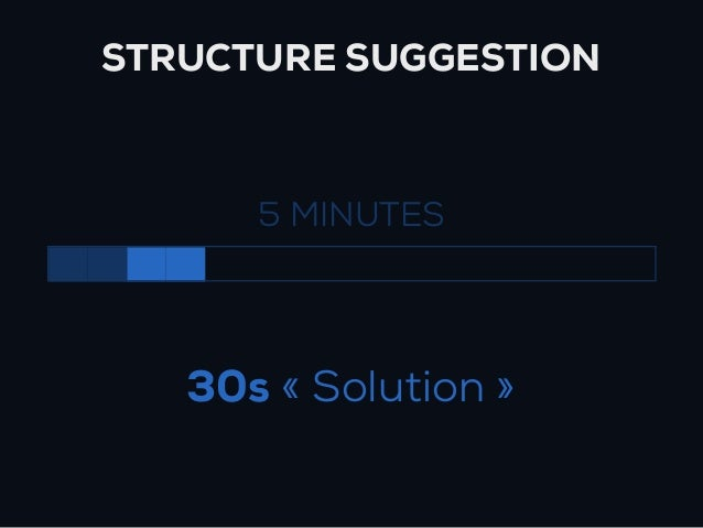 STRUCTURE SUGGESTION      5 MINUTES   30s « Solution »