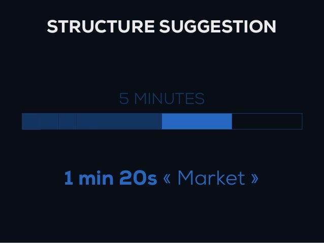 STRUCTURE SUGGESTION      5 MINUTES 1 min 20s « Market »