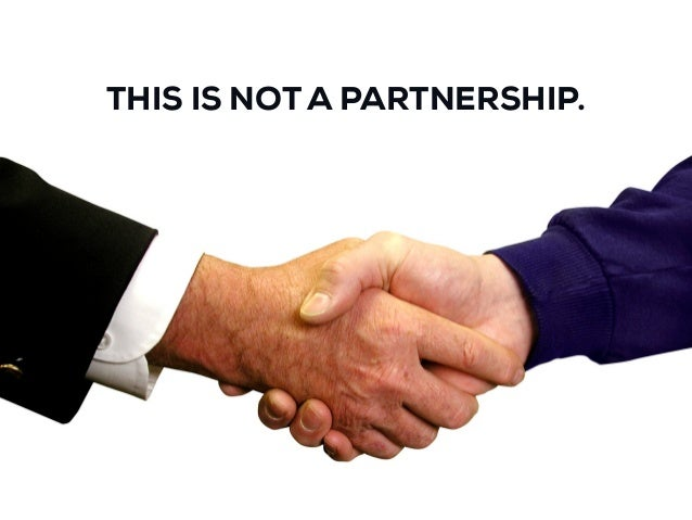 THIS IS NOT A PARTNERSHIP.