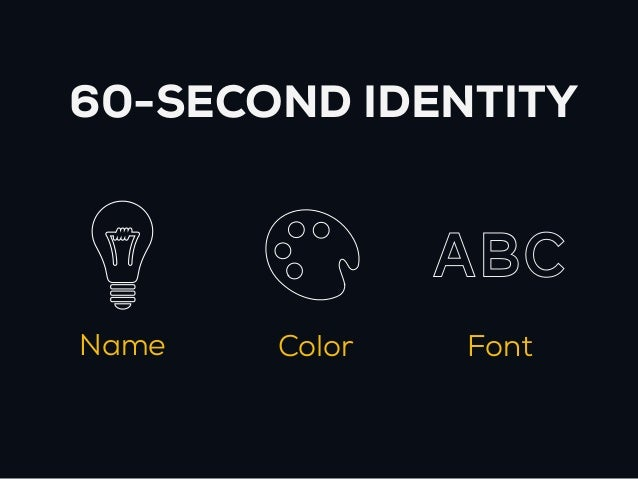 60-SECOND IDENTITY               AbcName   Color   Font