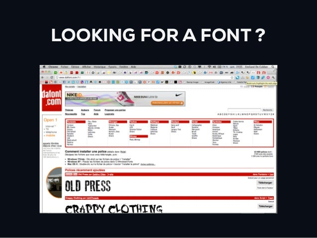 LOOKING FOR A FONT ?