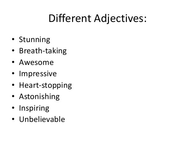 Extreme Sports Adjectives 85