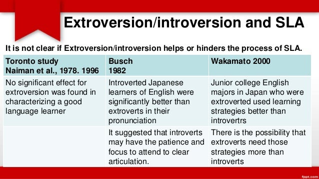 extrovert and introvert students in learning english cultural studies essay But as research has shown, extroversion and introversion lie on a spectrum in  fact, it might not be a case of being one or the other, but a.