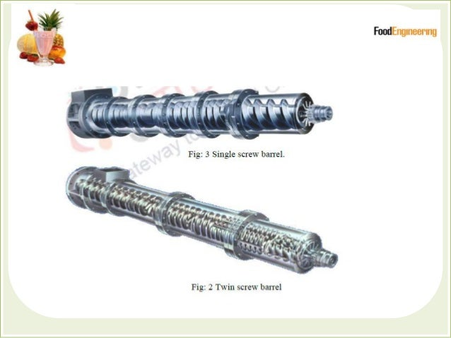 Twin-screw extruders  The term 'twin-screw' applies to extruder s with two screws of equal length placed inside the same ...