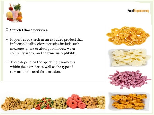 Extrusion Technology in Food Processing