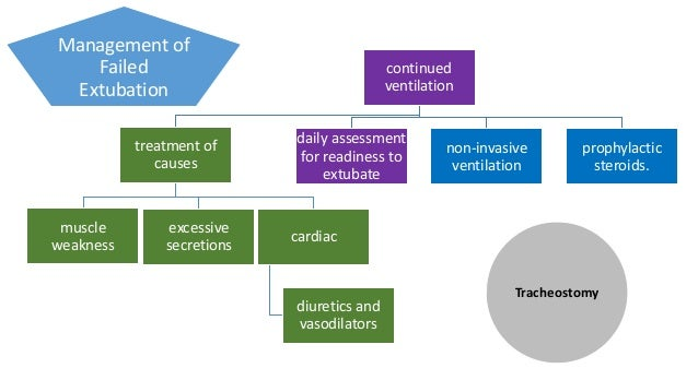 Non- invasive ventilation (NIV) may avert reintubation studies -mixed results Nava and colleagues NIV reduced reintubation...