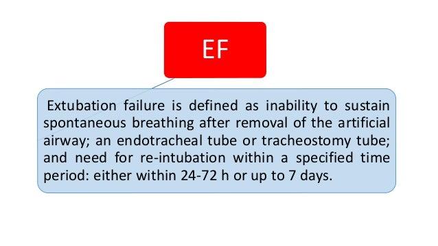 EF reintubation 24-72 h