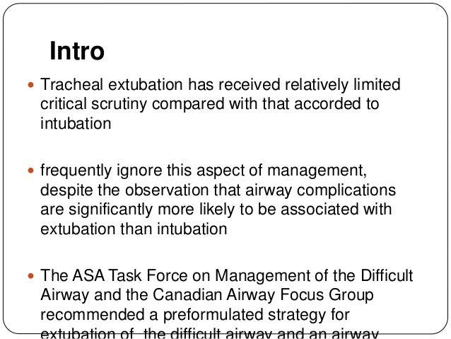Extubation problems and its management Slide 2