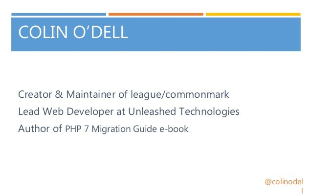 CommonMark: Markdown Done Right - ZendCon 2017 Slide 2