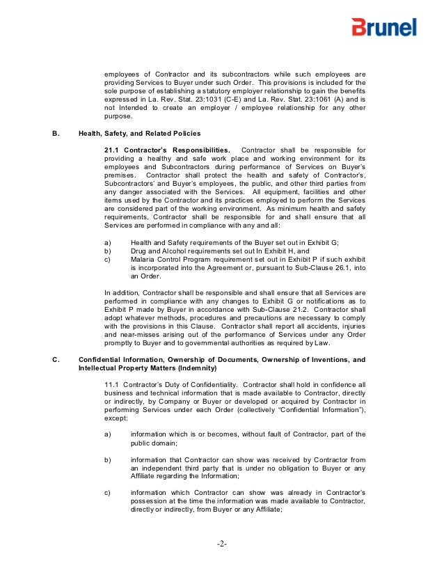 Exxon Mobil Contract Terms And Confidentiality Agreement - Employee confidentiality agreement