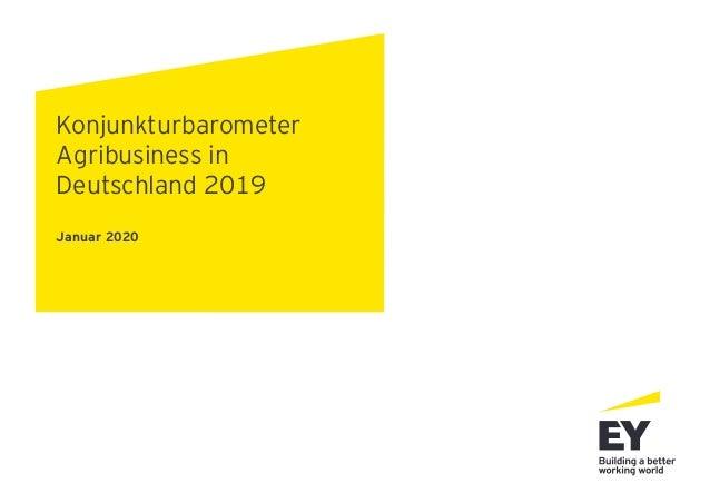 Konjunkturbarometer Agribusiness in Deutschland 2019 Januar 2020