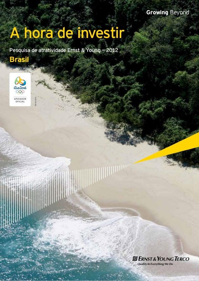 Growing BeyondA hora de investirPesquisa de atratividade Ernst & Young — 2012Brasil          TM Rio 2016