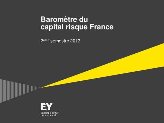 Baromètre du capital risque France 2ème semestre 2013
