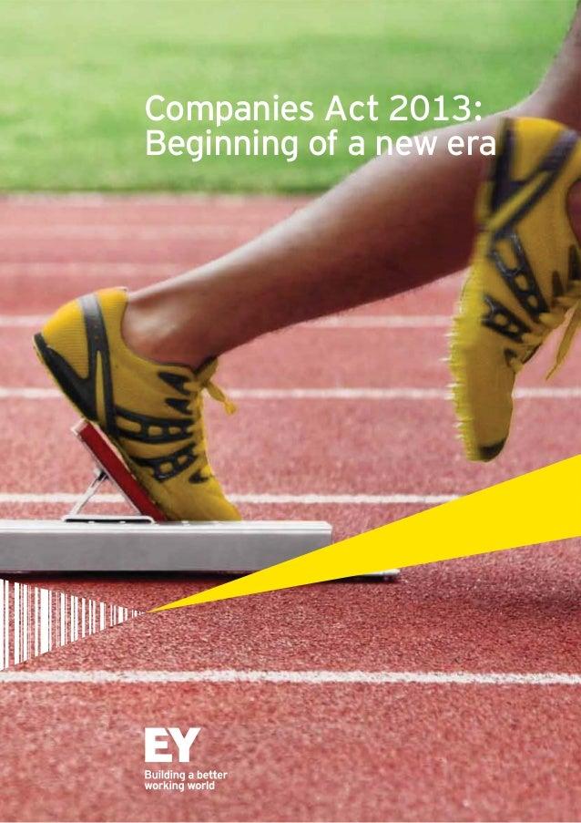 Companies Act 2013: Beginning of a new era