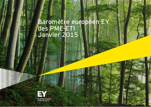 Page 1 Baromètre européen EY des PME-ETI Janvier 2015