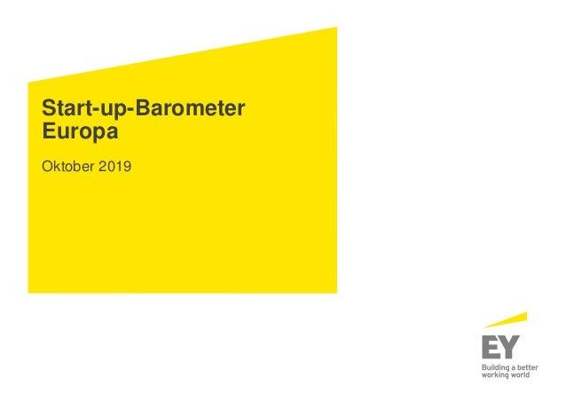 Start-up-Barometer Europa Oktober 2019