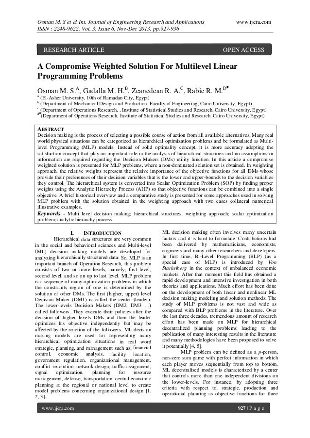 Osman M. S et al Int. Journal of Engineering Research and Applications ISSN : 2248-9622, Vol. 3, Issue 6, Nov-Dec 2013, pp...