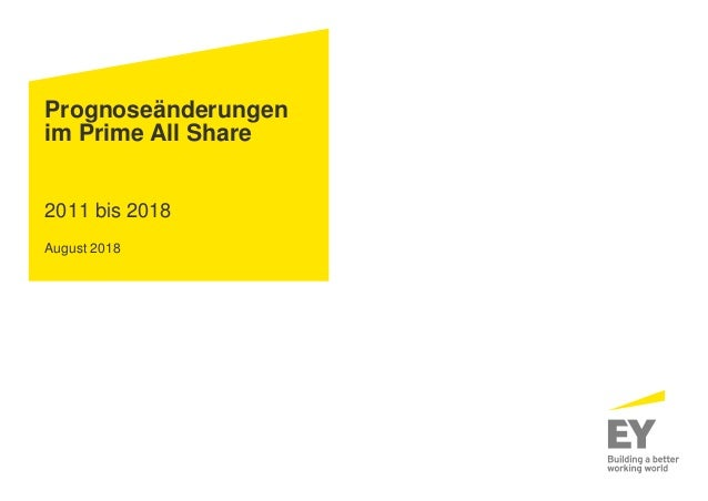 Prognoseänderungen im Prime All Share 2011 bis 2018 August 2018