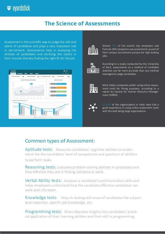 EYardstick online assessments advantages
