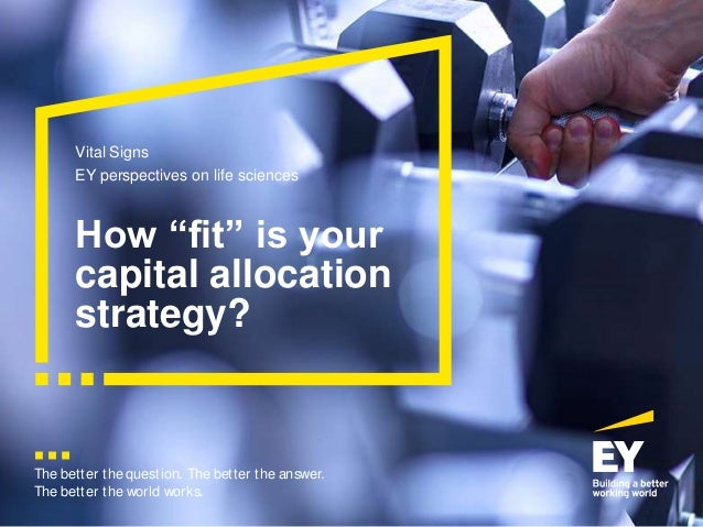 "The better the question. The better the answer. The better the world works. How ""fit"" is your capital allocation strategy?..."