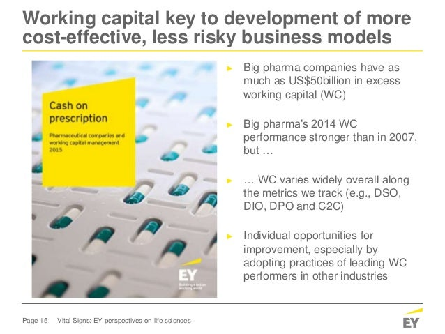 Page 15 Vital Signs: EY perspectives on life sciences Working capital key to development of more cost-effective, less risk...